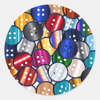 Adesivo Redondo Coleção do botão da cor