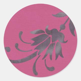 Adesivo Redondo Coleção roxa da flor