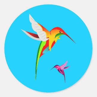 Adesivo Redondo Colibris adoráveis do vôo