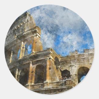 Adesivo Redondo Colosseum em Roma antiga Italia