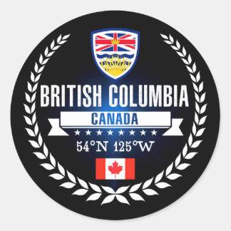 Adesivo Redondo Columbia Britânica
