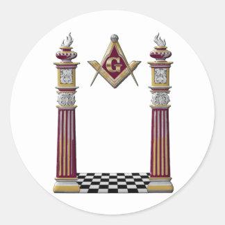 Adesivo Redondo Colunas maçónicas