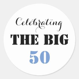 Adesivo Redondo Comemorando os 50 GRANDES -