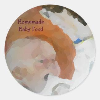 Adesivo Redondo Comida para bebé caseiro