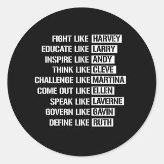 Adesivo Redondo Como os activistas alegres - luta como Harvey
