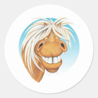"""Adesivo Redondo Companheiro do cavalo de Equi-toons """"Chappie"""