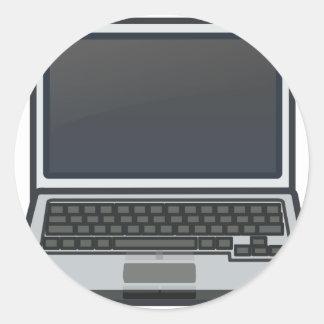 Adesivo Redondo Computador