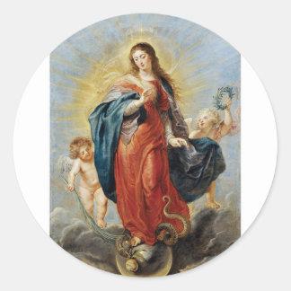 Adesivo Redondo Concepção imaculada - Peter Paul Rubens