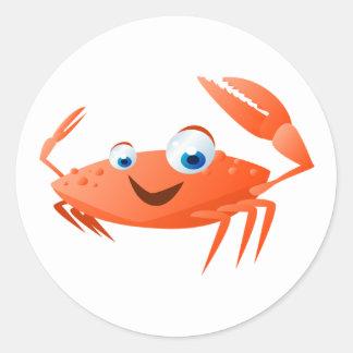 Adesivo Redondo Connor o caranguejo