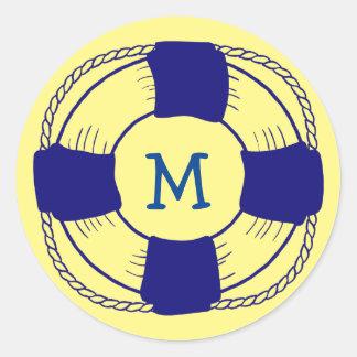 Adesivo Redondo Conservante de vida com monograma