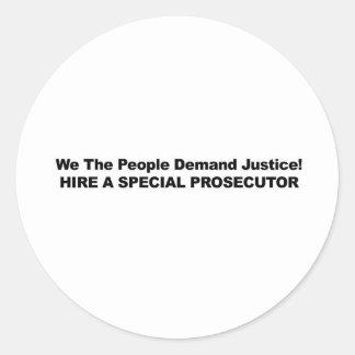 Adesivo Redondo Contrate um promotor de justiça especial