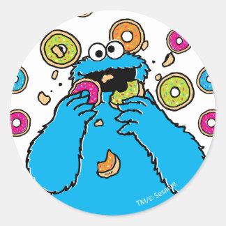Adesivo Redondo Contratorpedeiro de MonsterDonut do biscoito