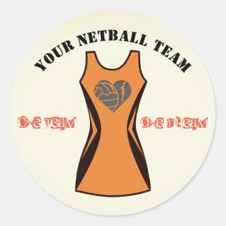 Adesivo Redondo Cor Customisable equipe personalizada do Netball