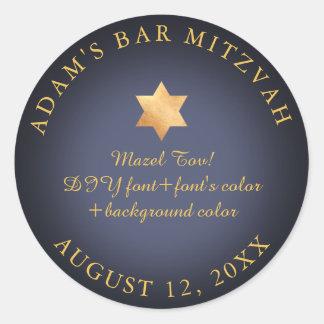 Adesivo Redondo Cor do bar Mitzvah/bastão Mitzvah/DIY de