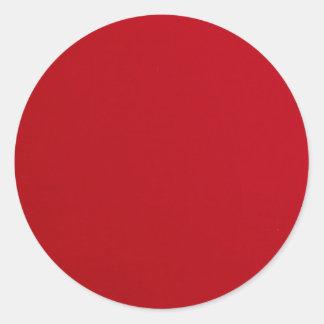 Adesivo Redondo Cor vermelha lisa