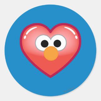Adesivo Redondo Coração de Elmo