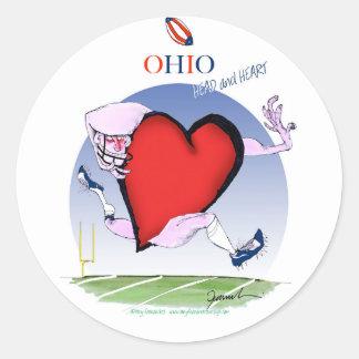 Adesivo Redondo coração principal de ohio, fernandes tony