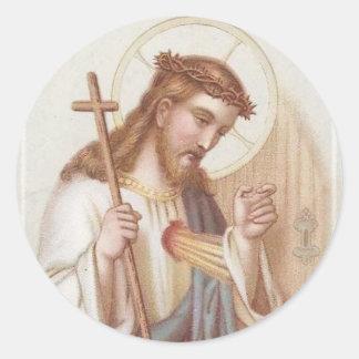 Adesivo Redondo Coração sagrado de Jesus