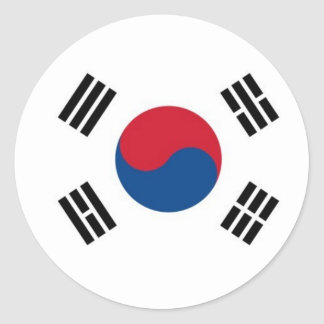 Adesivo Redondo Coreia do Sul redonda (não para o uso externo)