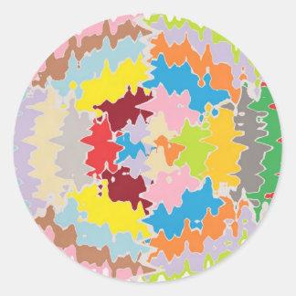Adesivo Redondo Cores do arco-íris de EBR:  Equilíbrio de energia