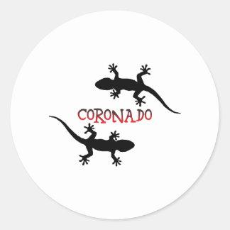 Adesivo Redondo Coronado Califórnia