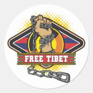 Adesivo Redondo Correntes livres de Tibet