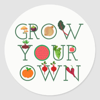 Adesivo Redondo Cresça seus próprios