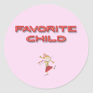 Adesivo Redondo Criança favorita