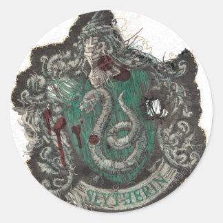 Adesivo Redondo Crista de Harry Potter | Slytherin - vintage