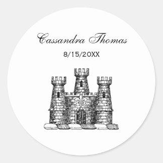 Adesivo Redondo Crista heráldica da brasão do emblema do castelo