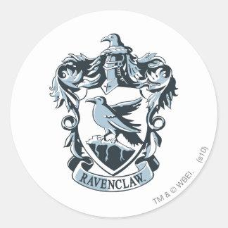 Adesivo Redondo Crista moderna de Harry Potter | Ravenclaw