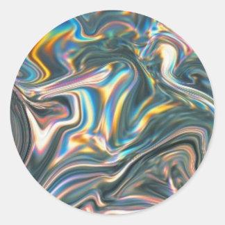 Adesivo Redondo Cromo holográfico