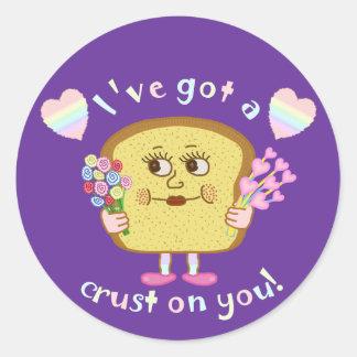 Adesivo Redondo Crosta bonito em você chalaça do dia dos namorados