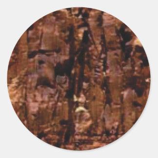 Adesivo Redondo crumble marrom da rocha