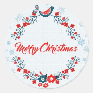 Adesivo Redondo cumprimento do Natal do Feliz Natal