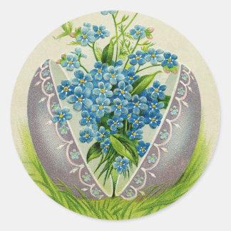 Adesivo Redondo Cumprimentos antigos florais do desejo do felz