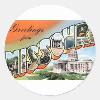 Adesivo Redondo Cumprimentos de Missouri