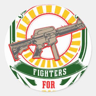 Adesivo Redondo CURDISTÃO - YPG - guerreiro da liberdade de YPJ