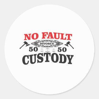 Adesivo Redondo custódia 50 do divórcio 50 do gavel