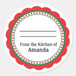 Adesivo Redondo Da cozinha da etiqueta, feita para você pela