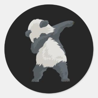 Adesivo Redondo Dança de Dabber da panda da solha