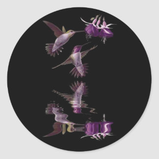 Adesivo Redondo Dança do colibri