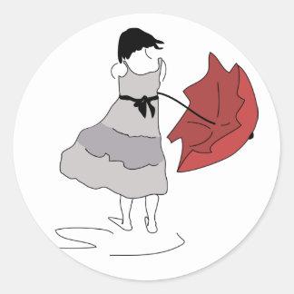 Adesivo Redondo Dança na chuva