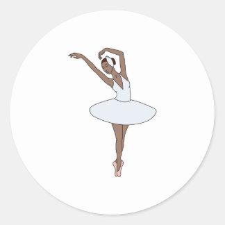Adesivo Redondo Dançarino de balé