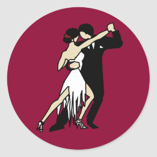 Adesivo Redondo Dançarinos do tango