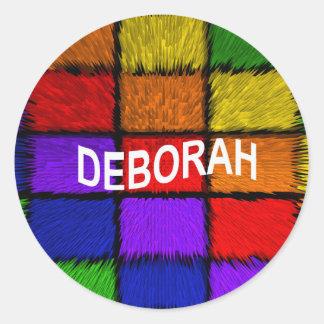 ADESIVO REDONDO DEBORAH
