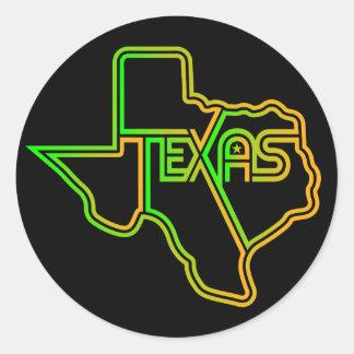 Adesivo Redondo Decalque Funky grande de Texas