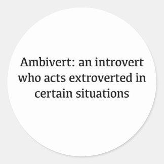 Adesivo Redondo Definição de Ambivert