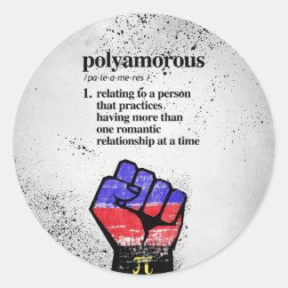 Adesivo Redondo Definição de Polyamorous - termos definidos de