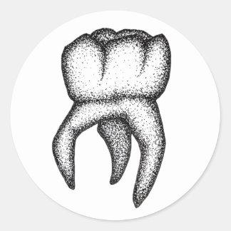Adesivo Redondo Dente humano Dotwork